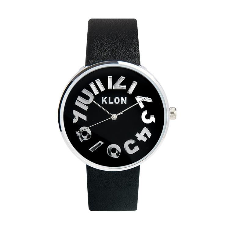 KLON HIDE TIME BLACK 【BLACK SURFACE】 Ver.SILVER 40mm
