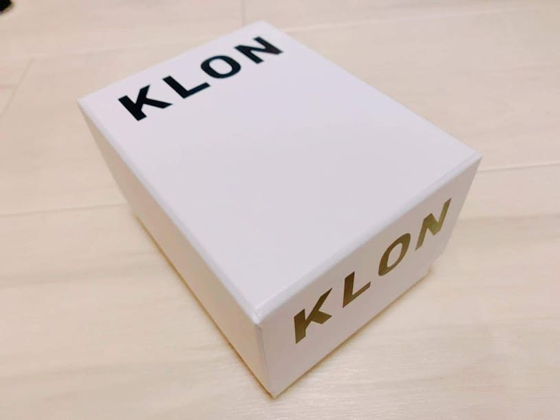 KLONの箱がかわいい